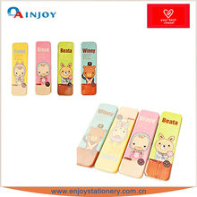 Cartoon expression tin pencil case school pencil case stationery set