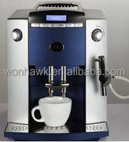 Blue Full Automatic Espresso Coffee Machine with LCD Display