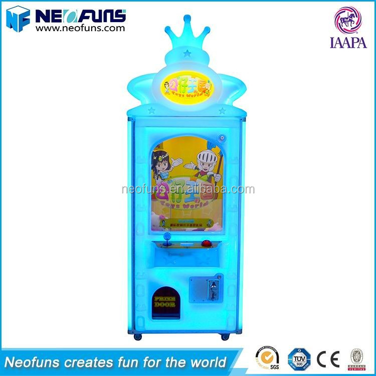 Neofuns Classical Arcade Coin Operated Prize Vending Kids Toy Claw Crane Game Machine For Sale
