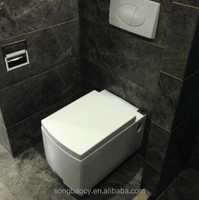 KB-113 square shape white color wall hung toilet wc