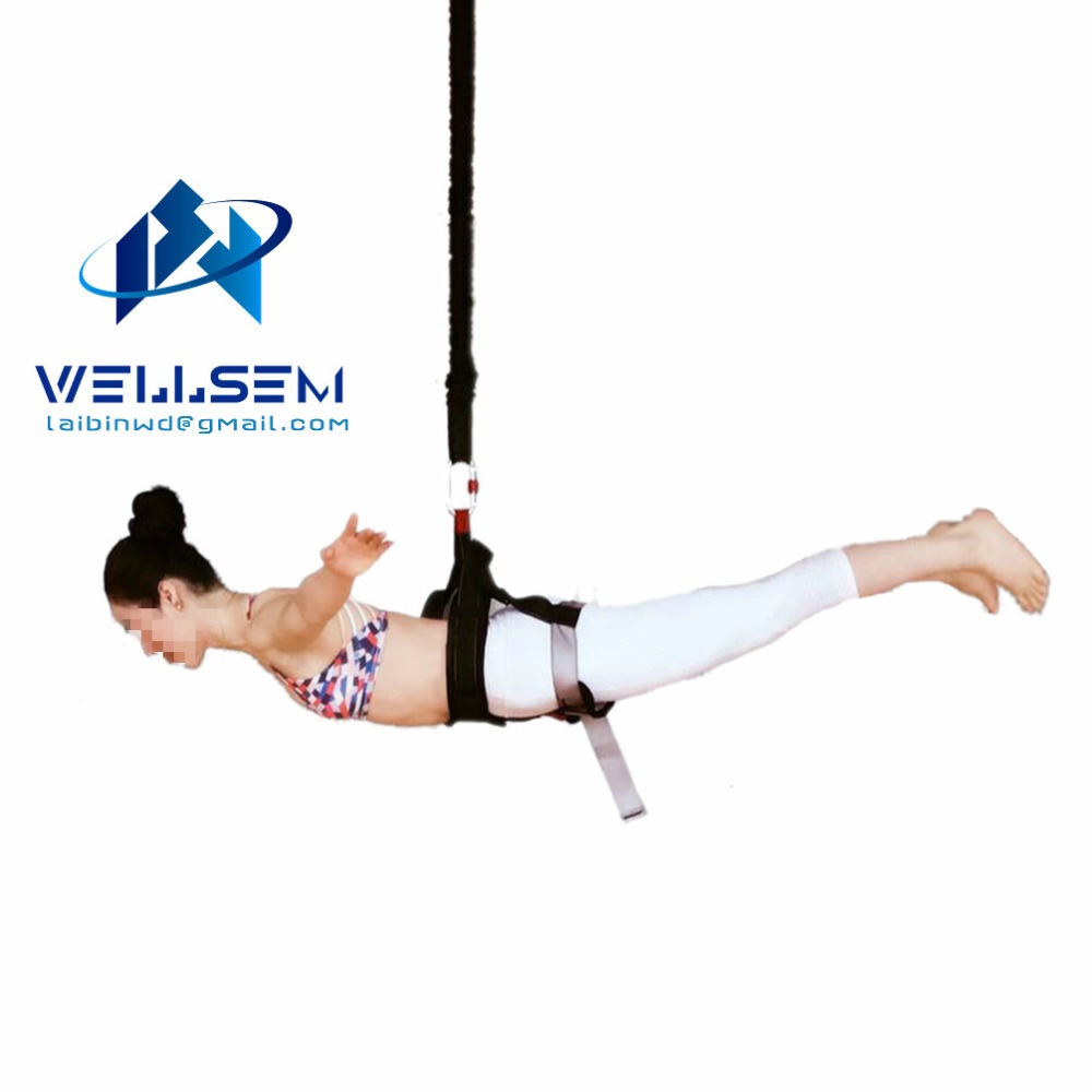 Wellsem New Arrival Bungee Dance Workout Fitness Aerial Anti-gravity Yoga Resistance Band Home Gym <strong>Equipment</strong>