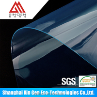 clear or matt high quality blue polyurethane film vivid blue film