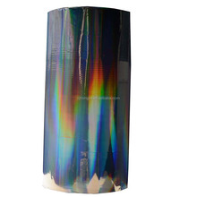 ZHY-359 China supply low price, rainbow hot transparent holographic film for fabric
