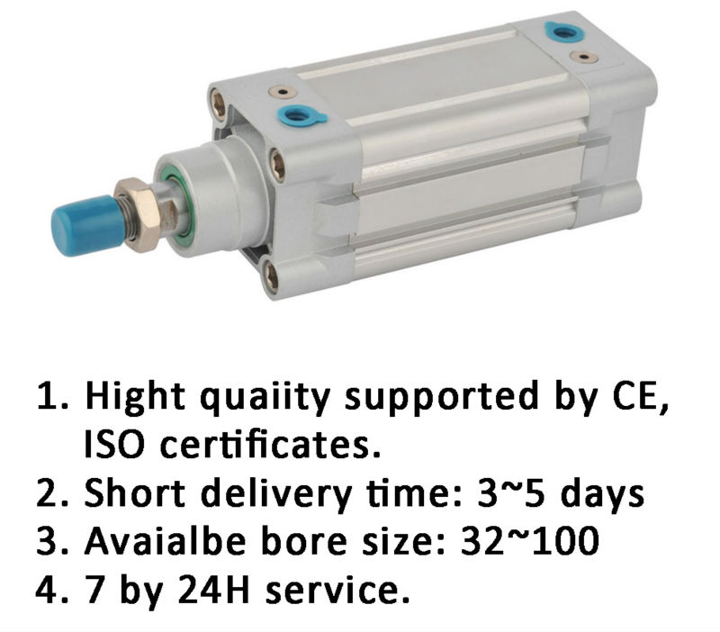 telescopic pneumatic cylinder DNC Series ISO 6431 standard DNC32-125 double acting