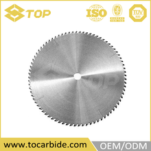 Processing tungsten carbide pcb circular saw blades, tct saw blade for brush cutter