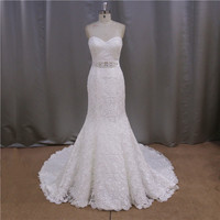 Fabulous 2015 customized sexy slim empire waist detachable wedding dresses removable skirt