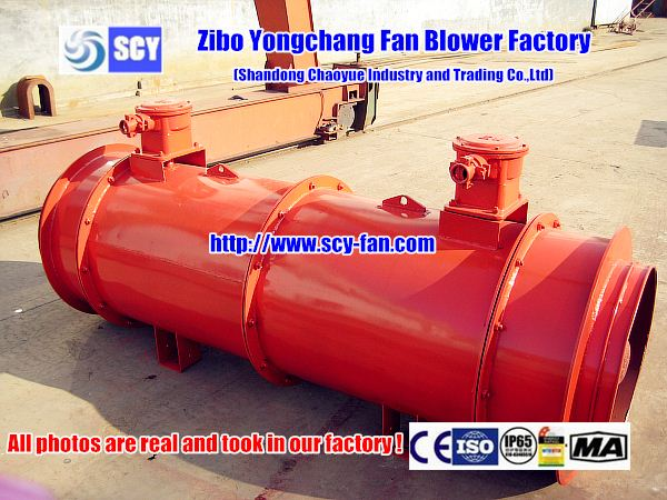 Variable pitch Industrial mineral mine ventilation for mine fan blower