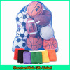 Large nylon mesh sport bag/ball carrying bags for soccer and basketball