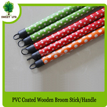 making machine 120*2.2cm PVC cover wooden broom stick