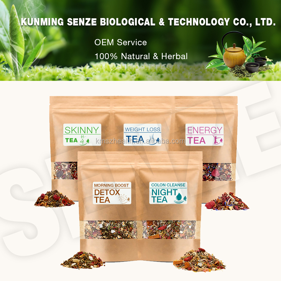 Organic Natural Ingredients Blending Herbal 14 And 28 Day Teatox With Private Label