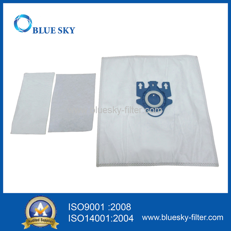 Plastic Collar Vacuum Cleaner Fabric Bag for Miele S7