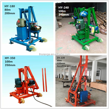 Hot selling small portable borehole drilling machines / water well drilling equipment