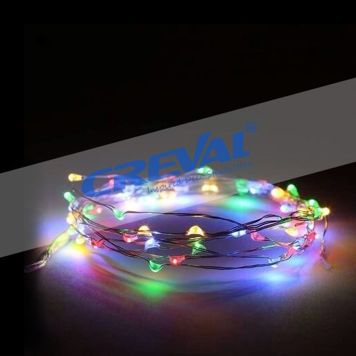 RGB led christmas string light with 3AA battery operated.