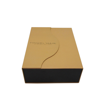 Customized hair packaging craft box wig paper box make in china