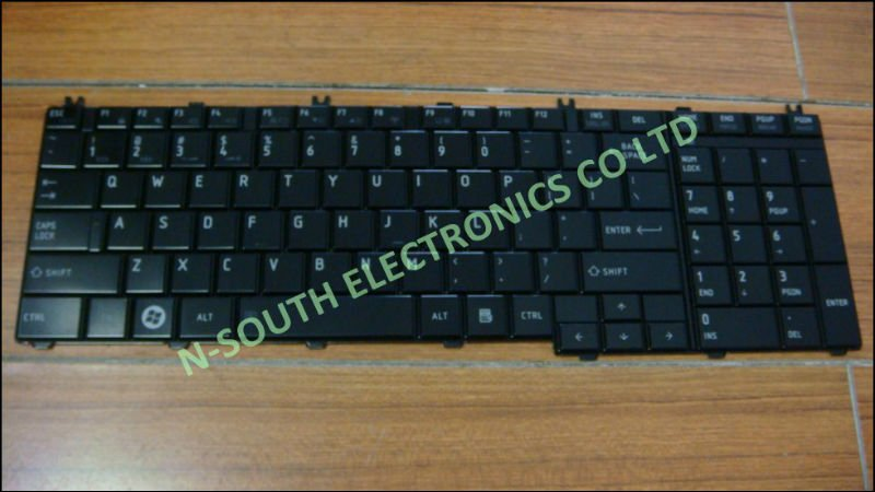 US GR IT RU Notebook keyboard For TOSHIBA for sattelite L655 C650 Black