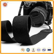 Wholesale Promoting Personalized Detachable Polyester Woven Dslr Weave Black Camera Neck Strap Manufacturer