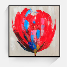 JC Home Decoration Wall Art Living Room Flower Canvas Oil Painting Single Piece