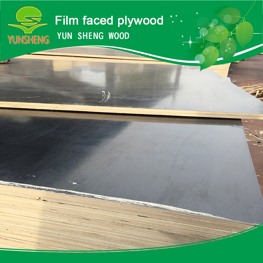 Black film faced plywood board used for concrete form/once hot press/density of marine plywood