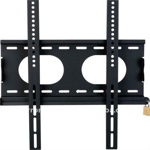 Flush to wall security Lockable TV Fixed Metal Bracket,Suitable for 23 to 37-inch Screen