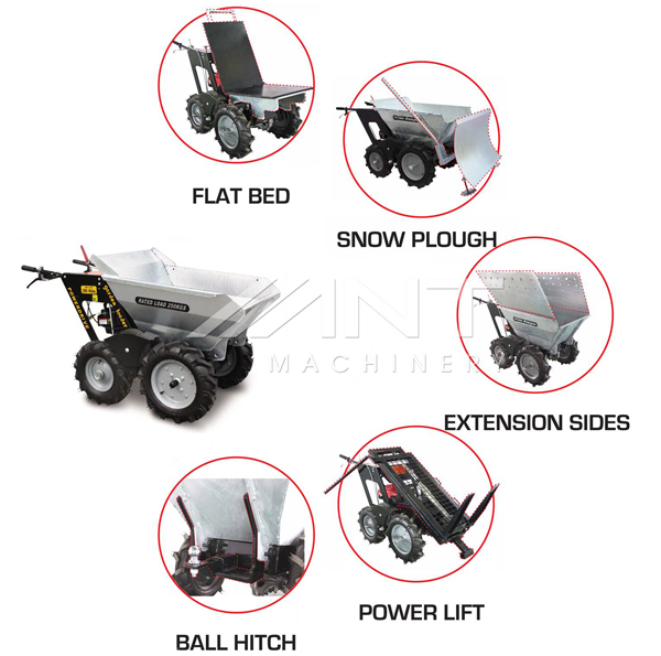 BY300 construction equipment hydraulic walking tractor