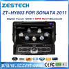 ZESTECH Wholesales 8 inch double din Car radio for Hyundai SONATA 2011 with GPS/Bluetooth/DVD/CD/MP3/Mp4/Steering wheel control