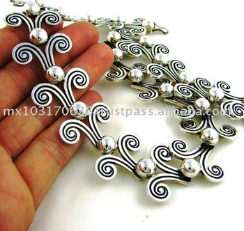 SOLID 950 Silver Margot De Taxco Design Necklace