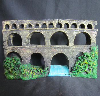 Resin aquarium decor ancient architecture craft