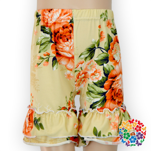 Wholesale Double Ruffle Floral Pants Chicken Ruffle Shorts New Design Roddler Ruffle Shorts