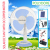Hot sell Portable 12inch PLD-A12 solar powered dc table fan