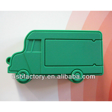 PVC/Silicon green Truck shape 2GB~32GB USB Flash Drives