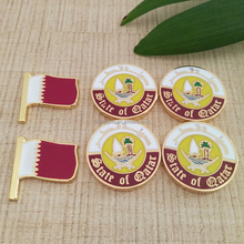 national day gift items/Qatar flag lapel pins badge