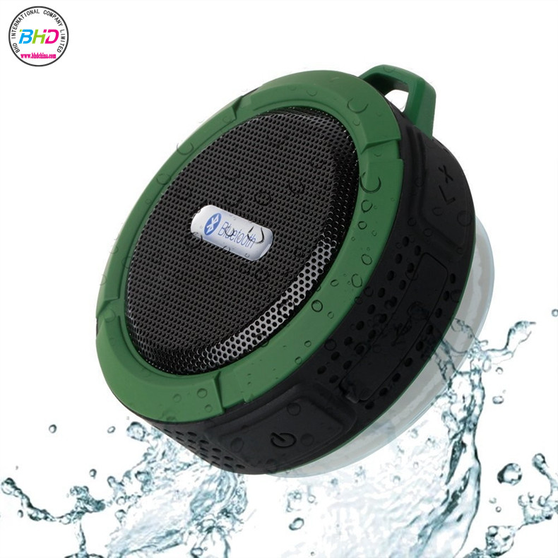 Outdoor Wireless Bluetooth 4.0 Stereo Portable Speaker Built-in mic Shock Resistance IPX6 Waterproof Speaker with Bass