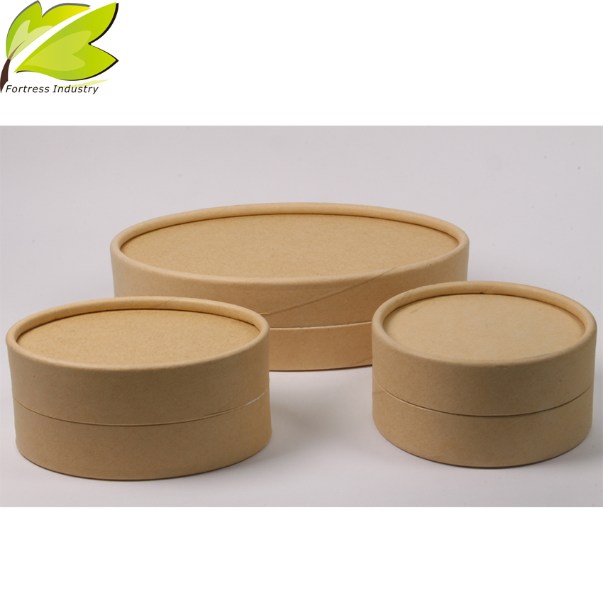 high quality printing new design brown kraft shipping tubes with lid