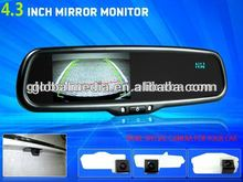 4.3 inch car rear view mirror wireless, 2AVIN, Phonebook Display,touch key,wifi backup camera