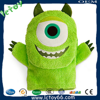 green monster hand puppet toy