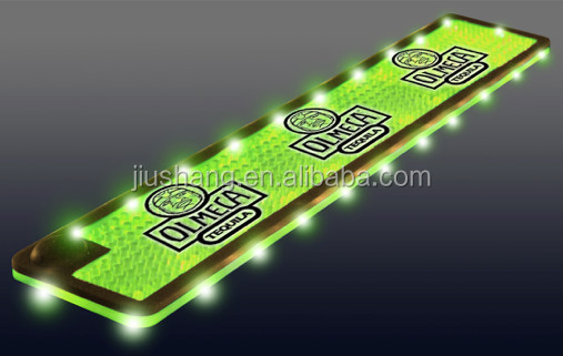 High quality LED light up bar drink mat