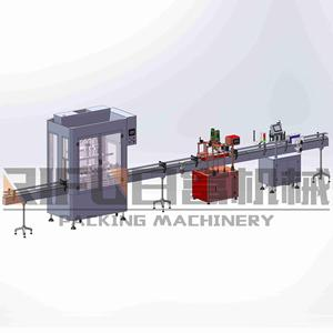 Automatic Piston Type Table Vinegar Bottle Filling Machinery Production Line