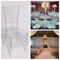 Knocked Down/Assembled Wedding Chair Crystal Clear Resin Chiavari Chair