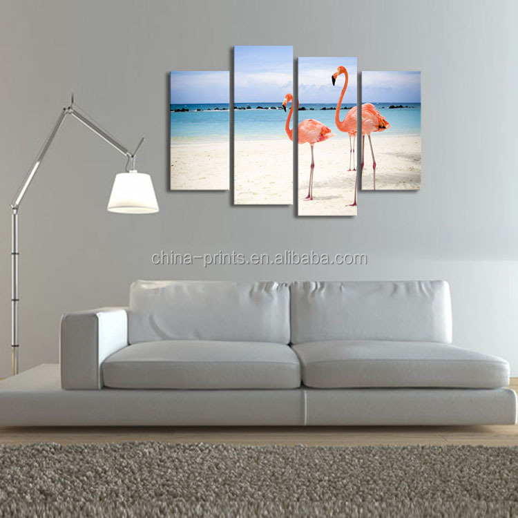 Beautiful Flamingos Animal Stretched Canvas Art Prints