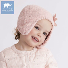DB6114-1 dave bella autumn winter baby girls pink purple hat cat textile hat