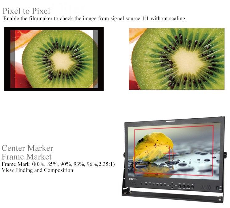 Easy Carry-on Camera Field 21.5 inch 16:9 IPS Panel HD-SDI HDMI Input Photography LCD Monitor for Indoor and Outdoor