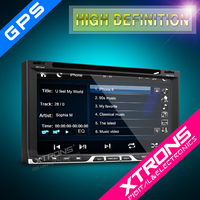 "6.95"" HD Digital Touch Screen 1080P Double Din Car DVD Player with Screen Mirroring GPS Navigator-2015 Newest Xtrons TD691GT"