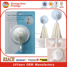 Heavy duty super plastic suction cup hook with lock suction hooks