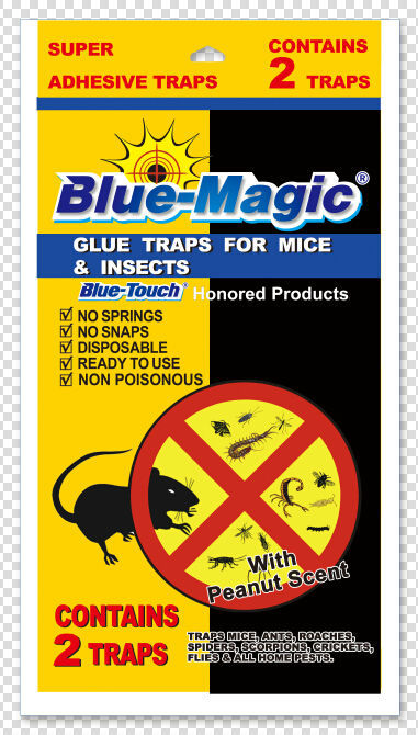Blue-Magic Rat, Mouse and Snake Glue Traps Just Like Catchmaster ~~ Trampas De Goma Pre Cebades Para Ratones (mice)
