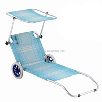 Promotion modern heavy duty folding lounge beach chairs with wheels
