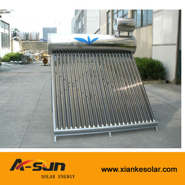 stainless steel compact low pressure solar hot water heater
