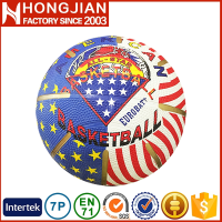 HB035 Size 7/6/5/3/2/1 rubber basketball