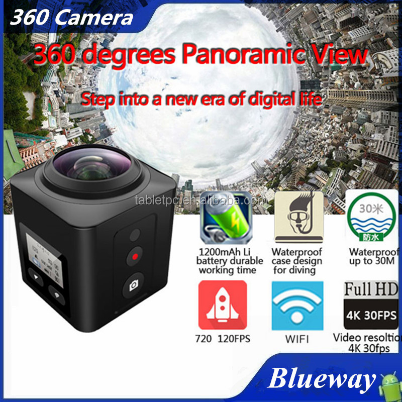 3ATM Waterproof 360 Degree Camera Rotation Wifi Wireless 16MP Sport Camera Support 4k 360 Camera
