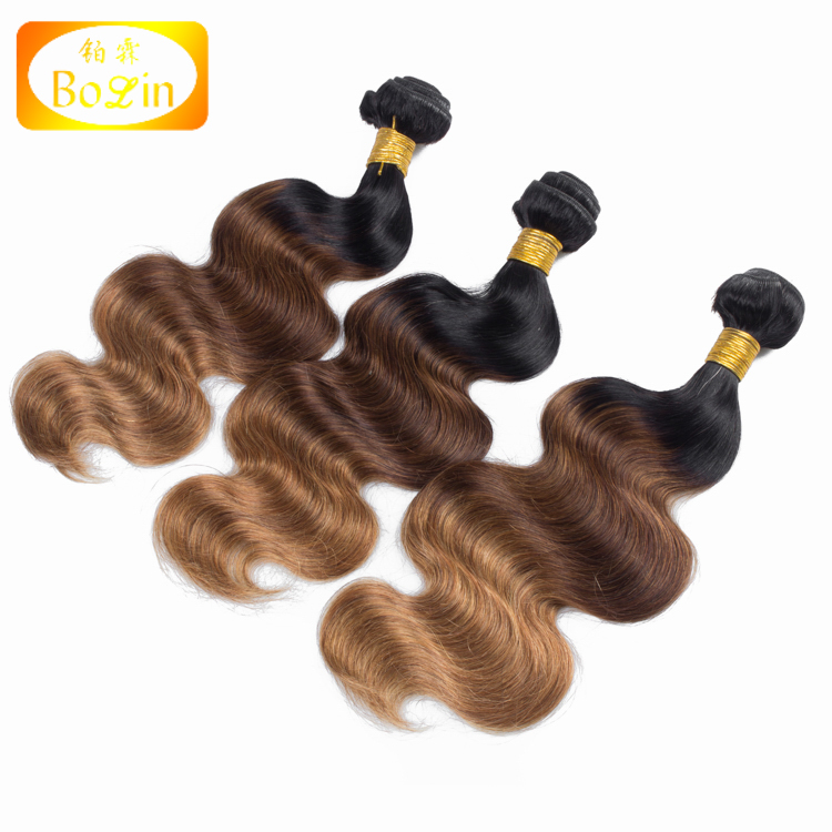 Hot New Products Top Grade Wholesale 100% Raw Unprocessed Virgin Three Tone Color Peruvian Hair