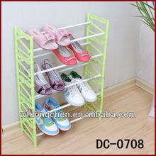 DC-0708 Five-layer folding iron shoe rack plastic shoe rack